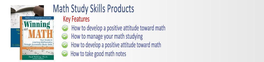 Math Study Skills Products Banner